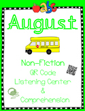 August Non Fiction: Teacher, Library, Feelings, Oops (QR Listen & Comprehension)