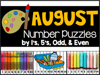 August Number Puzzles {45 Puzzles Included}