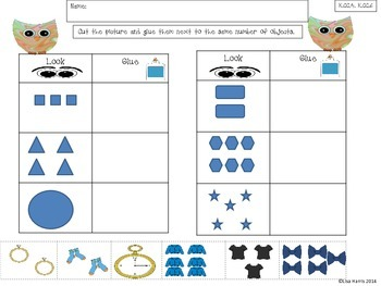 August Numbers and Shapes Work for Kindergarten