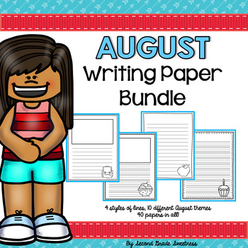 August Writing Paper Bundle