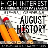 August Passages: History - Distance Learning Compatible