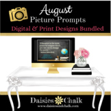 August Picture Writing Prompts - Bundled Print & Digital