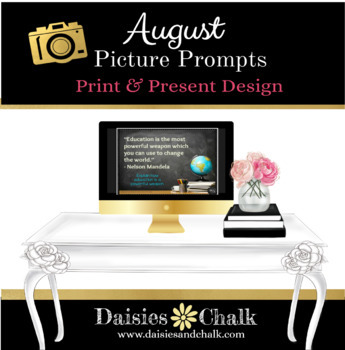 August Picture Writing Prompts - Print & Present Design