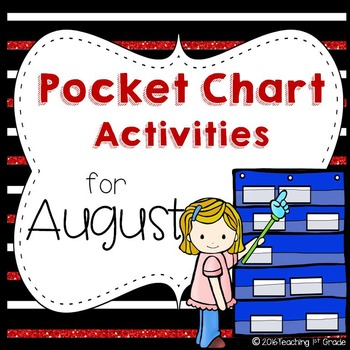 August Pocket Chart Activities