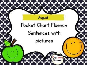 August Pocket Chart Fluency