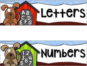 August Pocket Charts --- Four Math and Literacy Pocket Charts for Back To School
