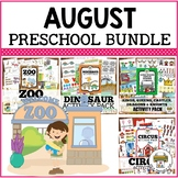August Preschool Activities Bundle