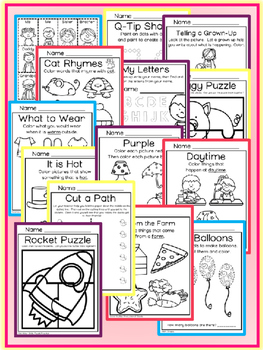 August Preschool Printable Packet NO PREP - Math Literacy Social Studies Science
