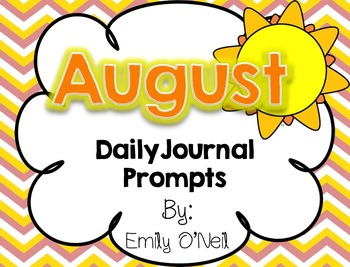 August Primary Daily Journal Prompts