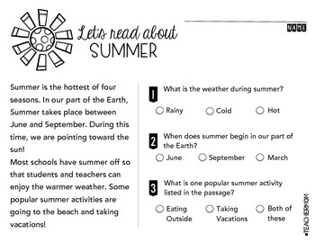 August Primary Informational (Non-Fiction) Text Pack {#TeacherMom}