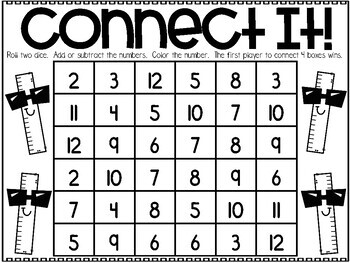 August Printable Math Games