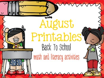 August Printables: Back To School