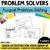 August Problem Solving