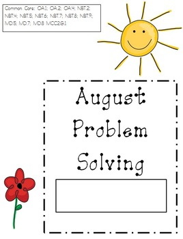 August Problem Solving Booklet (word problems)