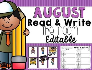 August Read & Write The Room {EDITABLE}