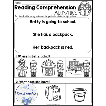August Reading Comprehension Activities Freebies