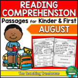 August Reading Comprehension Passages for Kindergarten and First Grade