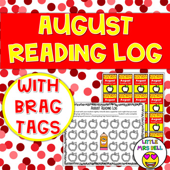 August Reading Log & Brag Tags
