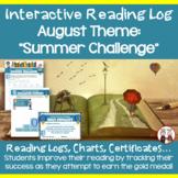 August Reading Log Summer Challenge