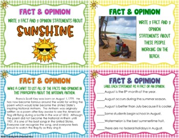 August Reading Skills and Enrichment Task Cards *Aligned to Common Core*