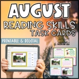 August Reading Skills and Enrichment Task Cards