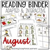 August SPED Adapted Reading Binder