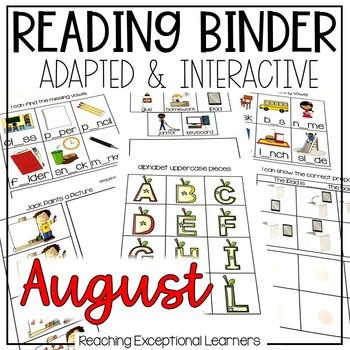 August Reading Binder