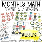 August Math Adapted Binder