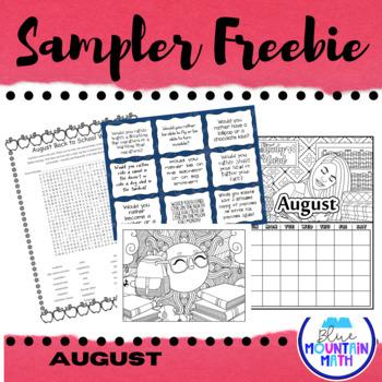 August Sampler Freebie