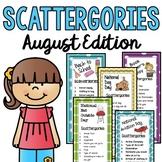 August Scattergories Games