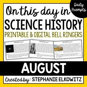August Science History Bell Ringers (Printable)