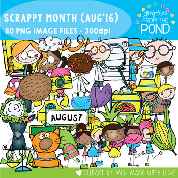 Scrappy Month Club - August 2016