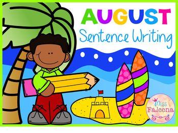 August Sentence Writing