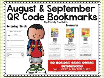 August & September Code Bookmarks with Comprehension Questions