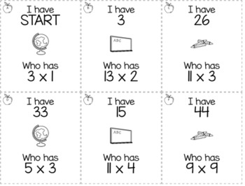"""August, September, Back to School 3rd  Grade """"I Have, Who Has"""" Math Game Bundle"""