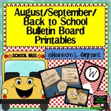 August, September, Back to School (Bulletin Board Craftivi