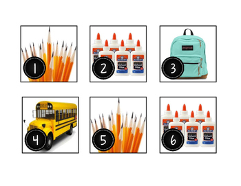 August/September Back to School Calendar Cards-Real Photos