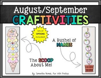August/September CRAFTIVITIES