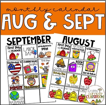 August & September Calendar Pieces