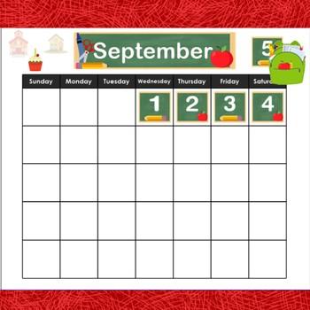 August & September Calendar for SMART Notebook