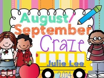 August September Craze No Prep