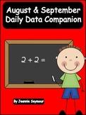 August & September:  Daily Data Companion