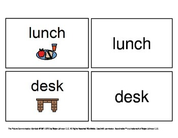 August/ September Functional Spelling Boardmaker Picture Cards for SPED