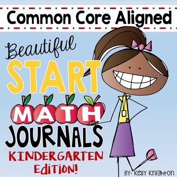 August / September Interactive Math Journal Kindergarten