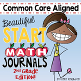August / September Interactive Math Journal Second Grade