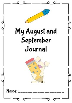 August/September Journal/Writing Prompts-EASY PREP
