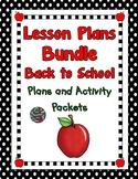 Kindergarten-Lesson Plan Bundle First Month of School Plan