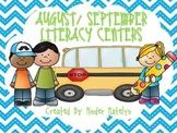 August/ September Literacy Centers