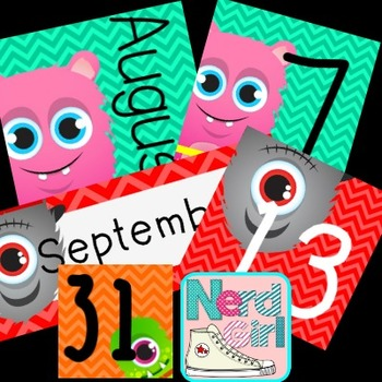 August September October Calendar Headers and Numbers