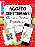 August September SPANISH QR Code Writing Prompts